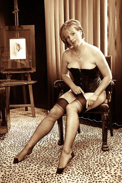 Boudoir-Fotografie - Stockings