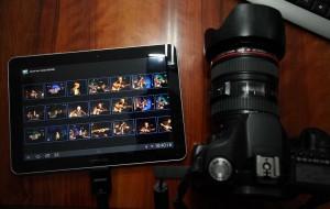Gelungener Anschluß: EOS 50D an Galaxy Tab 10.1 2