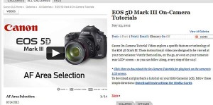 Canon Video-Tutorials zur EOS 5D MKIII 1