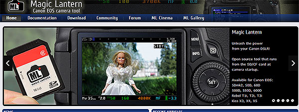 Neue Version 2.3 Magic Lantern, Canon EOS Camera Tool 1