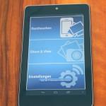 Transcend-App auf Nexus 7
