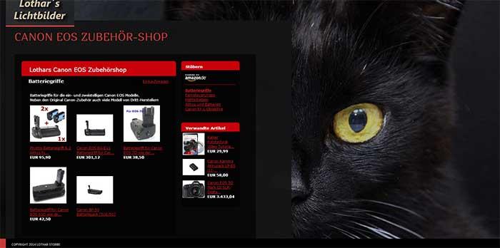 Canon EOS Zubehör-Shop
