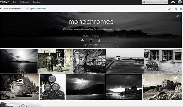 monochromes Flickr-Album