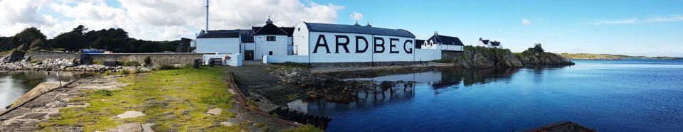 Ardbeg-Destillerie in der Nähe von Port Ellen, Islay
