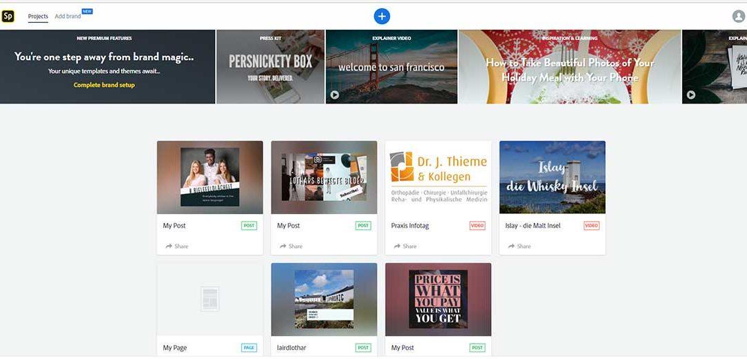 Adobe Spark: Einfach und schnell