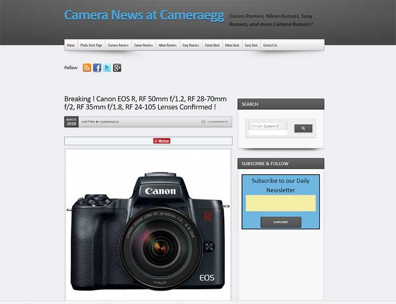 Canon EOS-R: Gerüchte verdichten sich