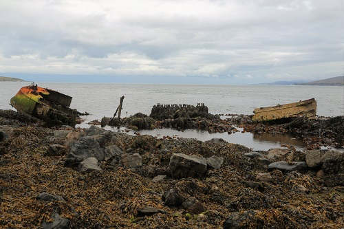 Wrack der Wyre Majestic vor Islay