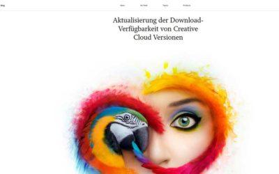 Adobe Creative Cloud: nur noch die 2 neuesten Versionen verfügbar